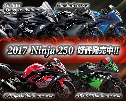 2017 Ninja 250 好評発売中!