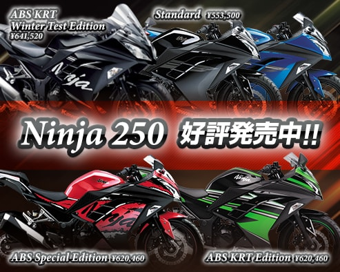 Ninja 250 好評発売中!